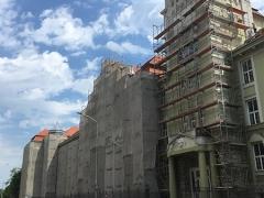 PTE-Rákóczi-u.-épület-állványozás