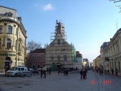 Pécs-Irgalmasok-Templom-állványozás-