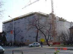 Pécs-Megyei-Kórház-állványozás